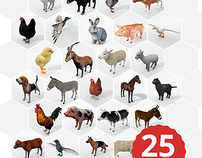 25 Farm - Domestic Animal Models game-ready