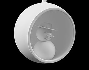 Printable Christmas tree toy snowman