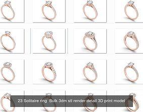 1000 engagement wedding solitaire ring bulk 3D model