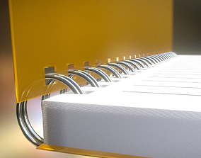 Notepad lined and animated 3D model