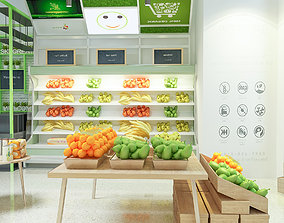 3D health Supermarket Shop store