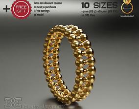 3D printable model Luxury eternity ring unique design
