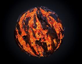 Lava Ground Seamless PBR Texture 05 3D