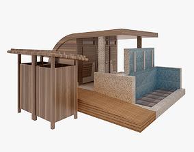 WC Shower 3D model