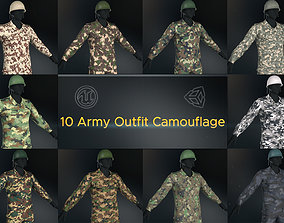10 Army Outfit Camouflage 3D asset