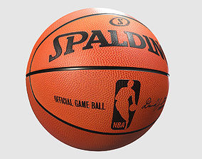 Low Poly PBR Basketball 3D model