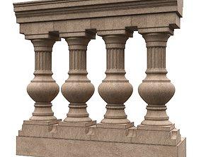 3D model Stone balustrade 09
