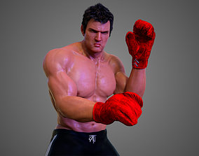 Male Caucasian BOX - MMA Fighter 3D