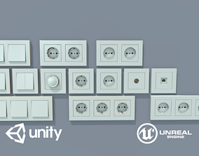 Game Ready Electrical Switches and Outlets 3D asset