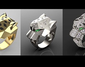 ring female panthere 3D print model