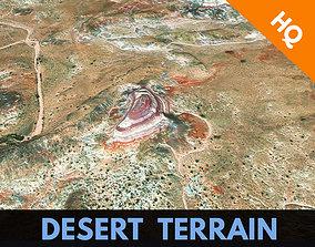 3D asset Desert Terrain Alien Planet Surface Relief 3