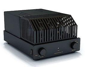 3D model Black Portable Heater