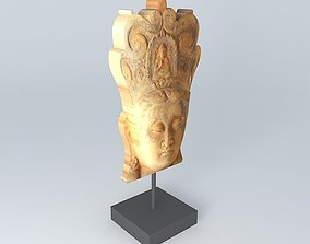 3D model sculptor statuette houses of the world