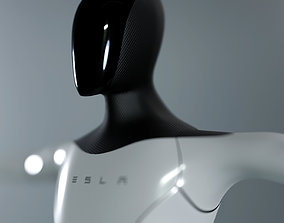 3D model rigged VR / AR ready Tesla BOT