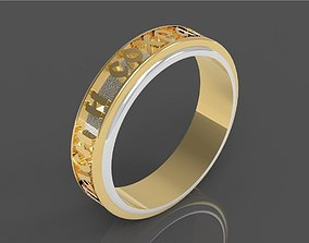 3D print model save and bless ring