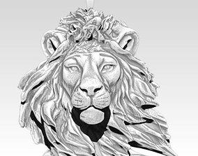Cat Lion Safari African King Pendant Jewel 3D print model