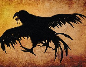 Animal - Crow 3D model