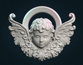 Angel Cherub bas-relief 3D printable model