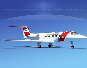 3D model Grumman Gulfstream C-II Coast Guard