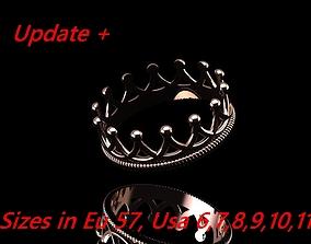 3D print model Crown Ring 04