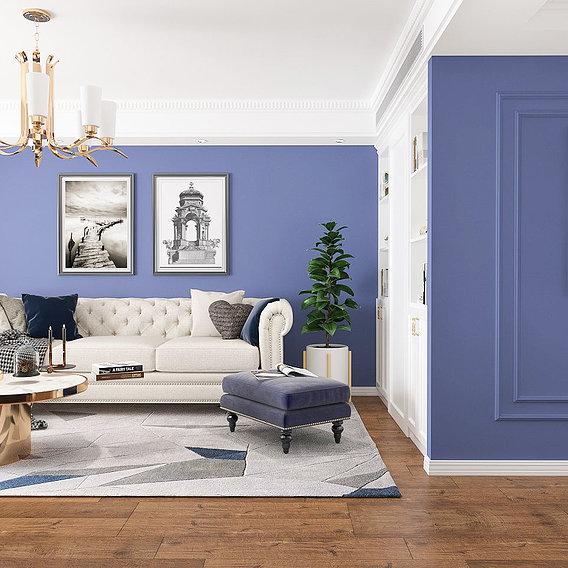 Living Room RoyalBlue Design