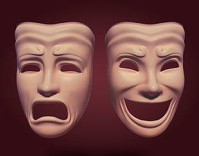 Theater Masks 3D asset
