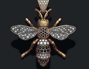 Bee pendant with diamond 3D printable model