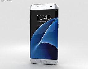 electronics 3D model Samsung Galaxy S7 Edge Silver