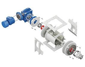 3D Rotary Feeder - Gate Lock - RP 210 ITALTECH