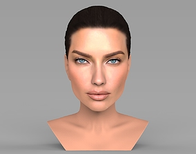 Adriana Lima bust ready for full color 3D printing