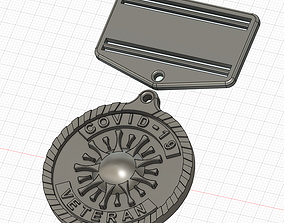 Veteran COVID-19 medal or badge symbol 3D print model