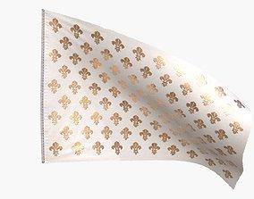 Royal French Flag until 1792 3D model