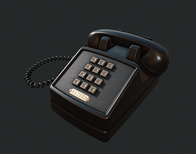 3D model PBR Retro Telephone