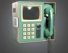 3D Retro Video Phone Midcentury Collection PBR Game