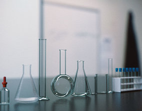 Laboratory Glassware - Lab Equipment 3D