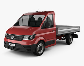 3D Volkswagen Crafter Single Cab Dropside 2017