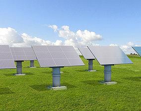 3D model Solar Panel land set