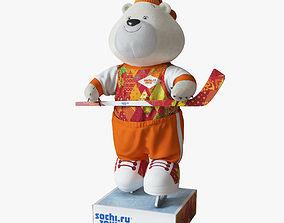 Souvenir of Olympic Bear Sochi 2014 3D model
