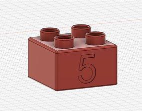 Lego Duplo compatible 2x2 5 3D printable model