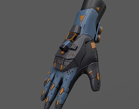 Scifi Gloves ver14 3D asset low-poly