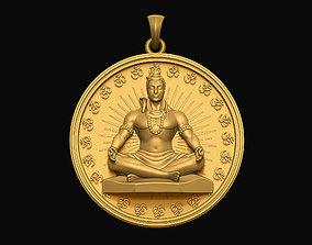 Shiva Pendant 3D printable model statue