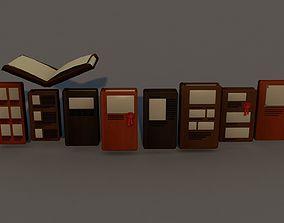 Books living 3D model