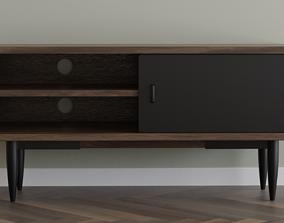 3D asset Wooden TV Cabinet