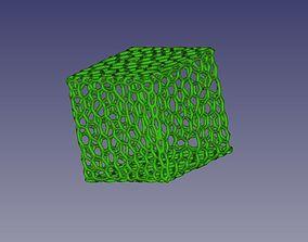 3D printable model Voronoi style cube primitive