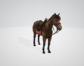 3D model animated realtime Horse