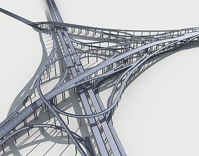 Highway Viaduct flyover 3D model-3
