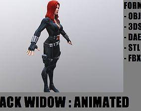 3D model animated Blackwidow