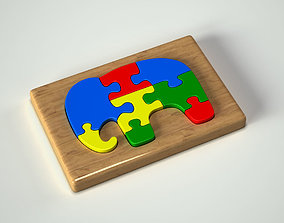 3D Elephant Puzzle Toy