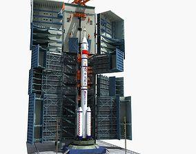 Satellite Rocket Launch Site - CZ2F 3D