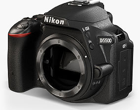Nikon D5500 3D model animated